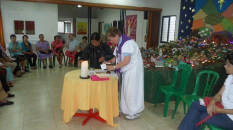 Aspecto de la Eucaristía en el Centro Cultural Melendez