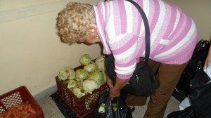 La abuela recoge su mercado