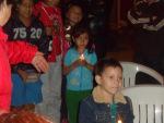 Los niños de Soacha, felices participando en la Eucaristía.