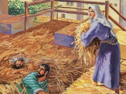 Rahab cubriendo a los espías.
