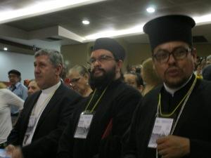 Monsignor Edgar Aristizabal and members of the Greek-Orthodox Church