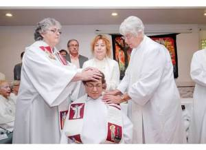 The laying on of hands and the Community clergywomen
