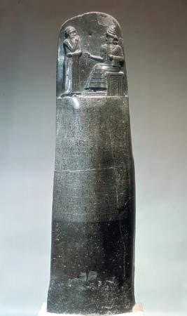 El Código de Hammurabi muy fálica, la ley escrita más antigua conocida, que sanciona la opresión femenina y glorificaba la peña