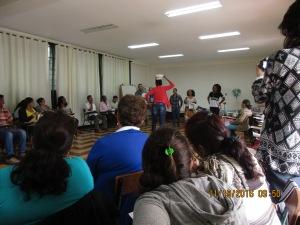 Delegación Cartagena en su presentación.