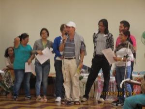 Guido, presenta la delegación de Popayán.
