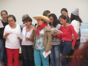 La delegación de Neiva, en su presentación: su historia y sus cantos nos alegraron la vida!
