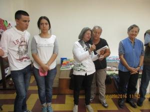 La delegación de Antioquia se presenta.