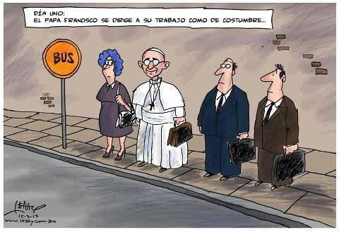 Viñeta del Papa Francisco